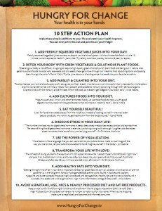 Hungry for Change 10 Steps Action Plan
