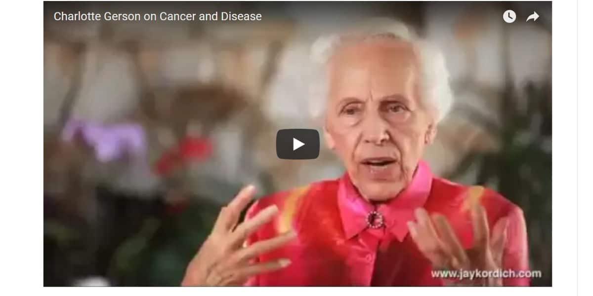 Gerson Therapie Film Krebstherapie