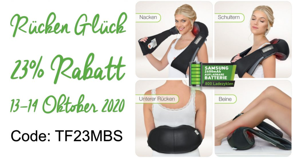 Rabattcode Massagegerät 23% Gutschein